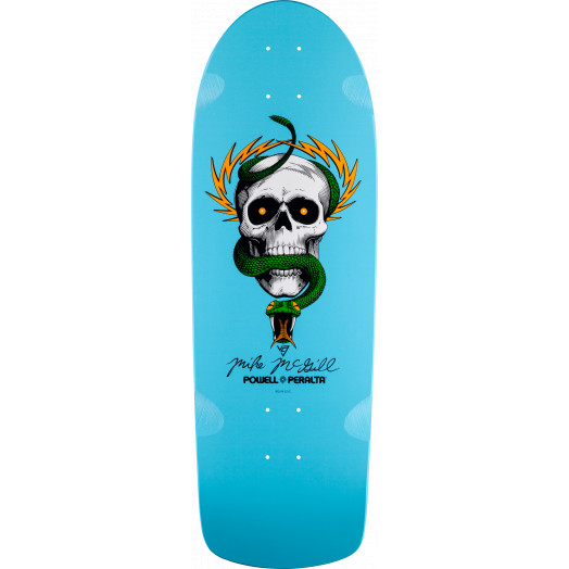 Powell Peralta McGill Skull and Snake Skateboard Deck Light Blue - 10 x 30.125