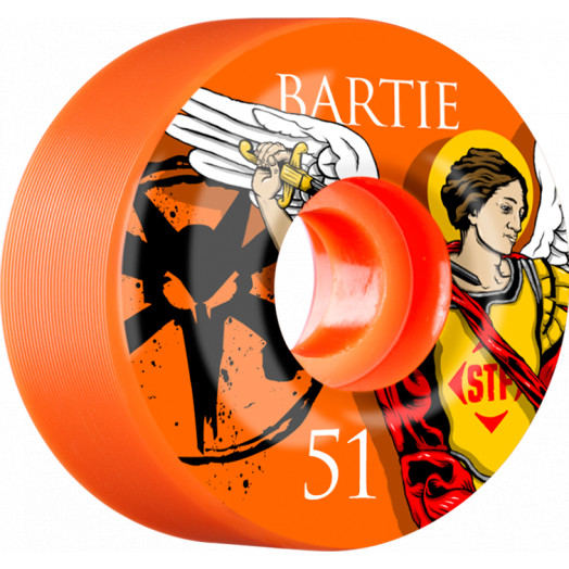 BONES WHEELS STF Pro Bartie Saint 51mm wheels 4pk Orange
