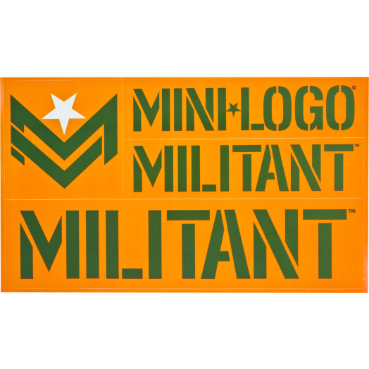 Mini Logo Miltant Single Sticker