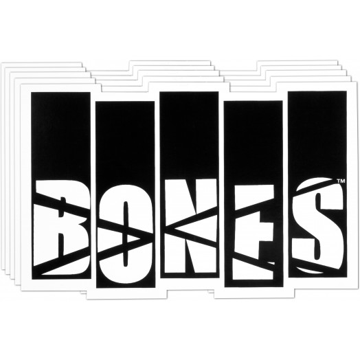 BONES WHEELS Flag Sticker 20pk
