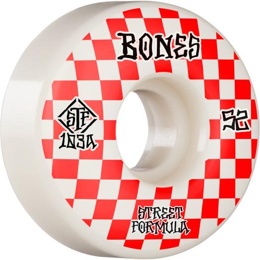 BONES WHEELS STF Skateboard Wheels Patterns 52 V3 Slims 103A 4pk