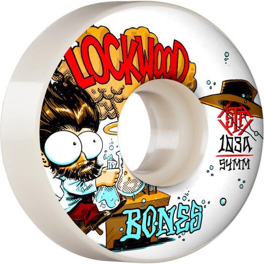 BONES WHEELS PRO STF Skateboard Wheels Lockwood Experi-Mental 54mm V3 Slims 103A 4pk