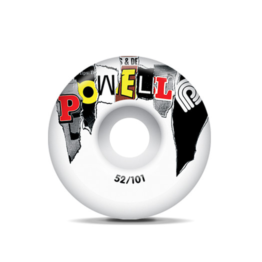 Powell Mag Letters Wheels Red 52/101a(4pack)