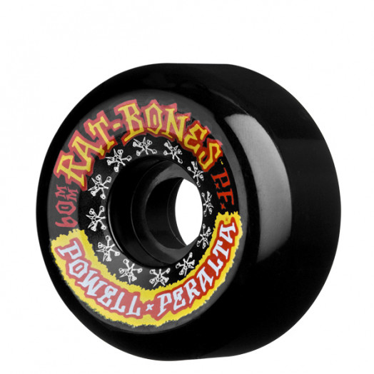 Powell Peralta Rat Bones II 60mm PF - Black (4 pack)