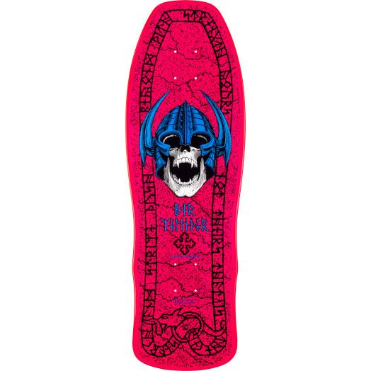 Powell Peralta Welinder Nordic Skull Skateboard Deck Pink - 9.625 x 29.75