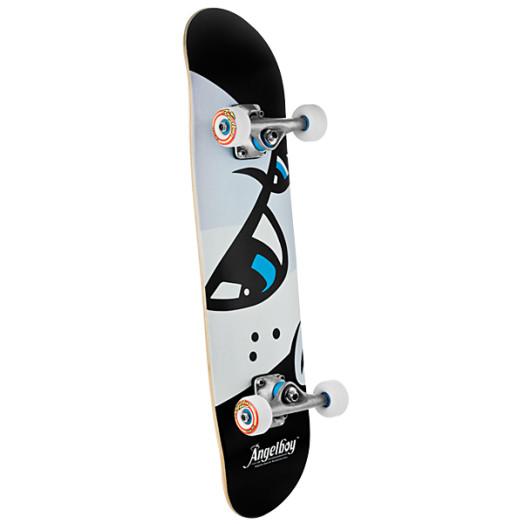 Angel Eyes Black 143 Complete Skateboard - 7.375 x 29.375