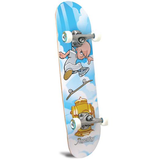 Kickflip Angel Complete Skateboard - 7.375 x 29.375
