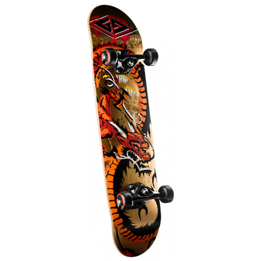 Powell Golden Dragon Loop Dragon Complete Skateboard - 7.75 x 31.75