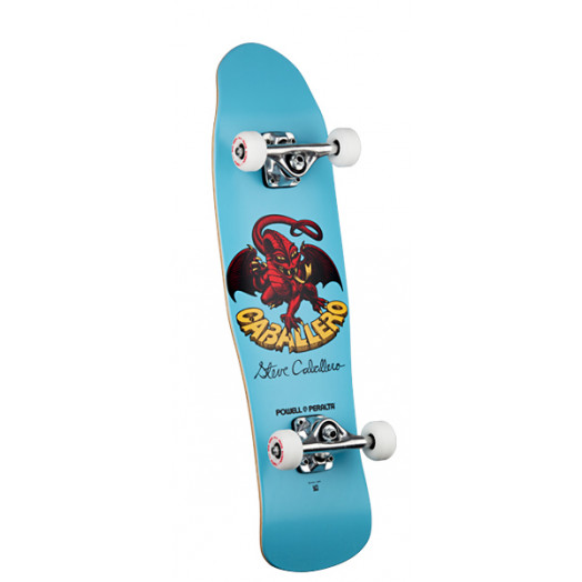 Powell Peralta Mini Caballero Dragon II Complete Skateboard #2 Blue - 8 x 29.5