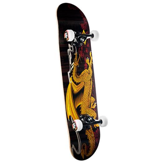 Powell Golden Dragon Running Dragon Complete Skateboard - 7.75 x 31.75