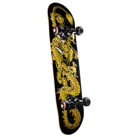 Powell Golden Dragon Striking Dragon Complete Skateboard - 7.625 x 31.625