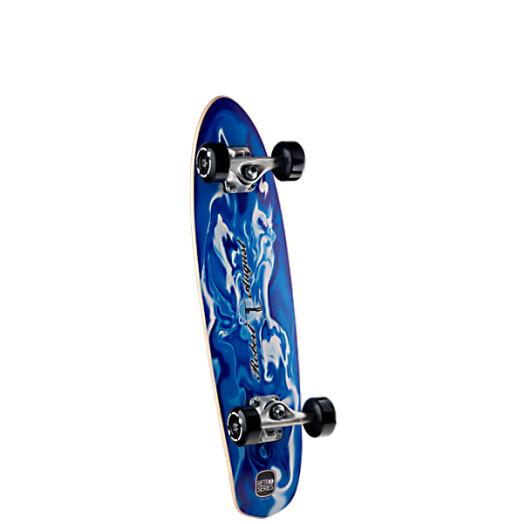 Surf One Robert August Resin Swirl Complete Skateboard - 7.25 x 28.125