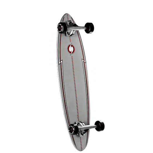Surf One Silver Surfer Complete Skateboard - 8.875 x 32.875