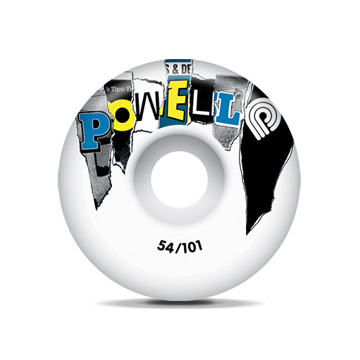 Powell Mag Letters Wheels  Blue 54/101a(4pack)