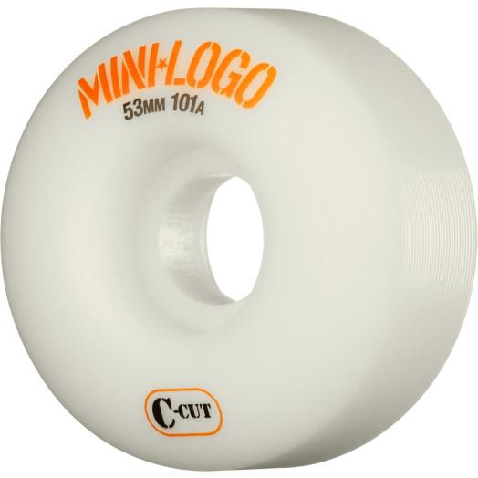 Mini Logo Skateboard Wheels C-cut 53mm 101A White 4pk