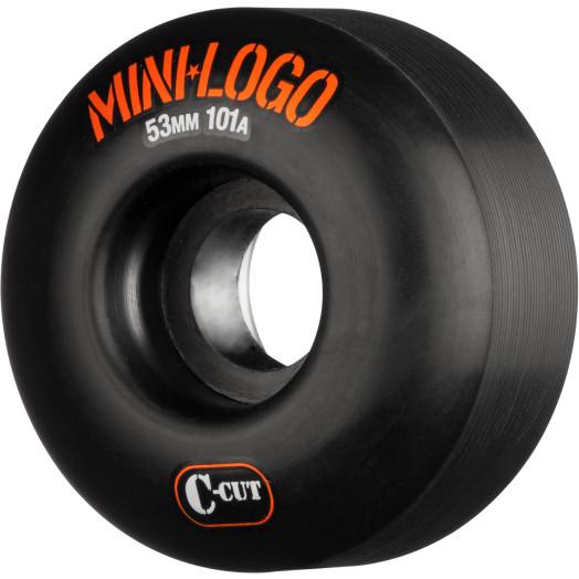Mini Logo Skateboard Wheels C-cut 53mm 101A Black 4pk