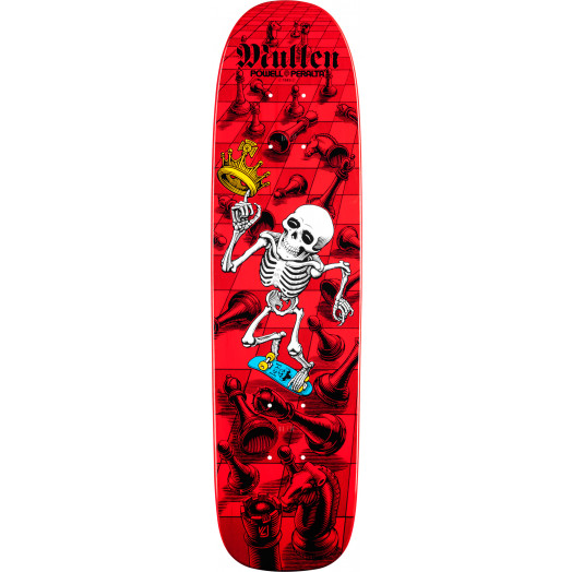Bones Brigade® Mullen Chess Reissue Deck Red - 7.4 x 27.625
