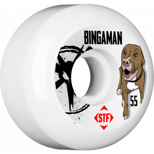 BONES WHEELS STF Pro Bingaman Tank 55mm wheels 4pk