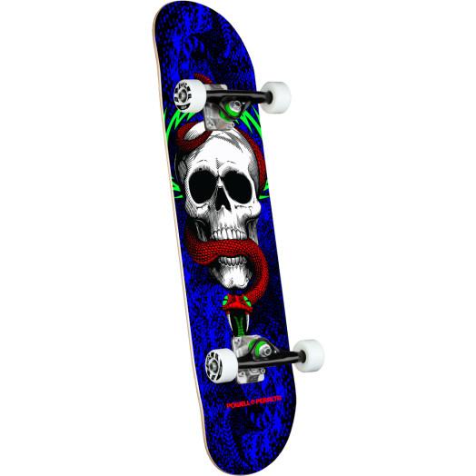 Powell Peralta Skull & Snake One Off Royal Blue Birch Complete Skateboard - 7.75 x 31.08