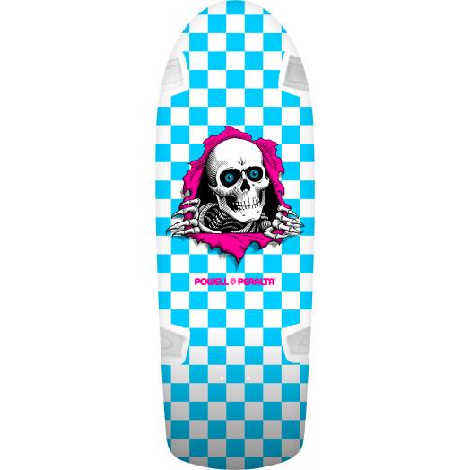 Powell Peralta OG Ripper Skateboard Blem Deck Wht/Turq - 10 x 30