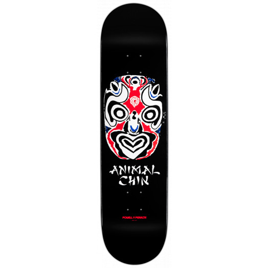 Powell Peralta Chin Mask Skateboard Deck Black - 8.5 x 33.5