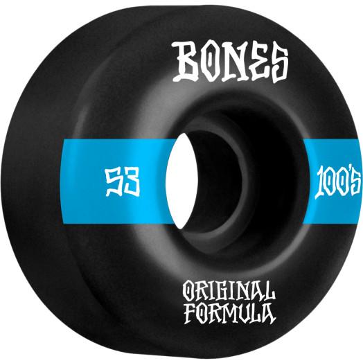 BONES WHEELS OG Formula Skateboard Wheels 100 #14 53mm V4 Wide 4pk Black