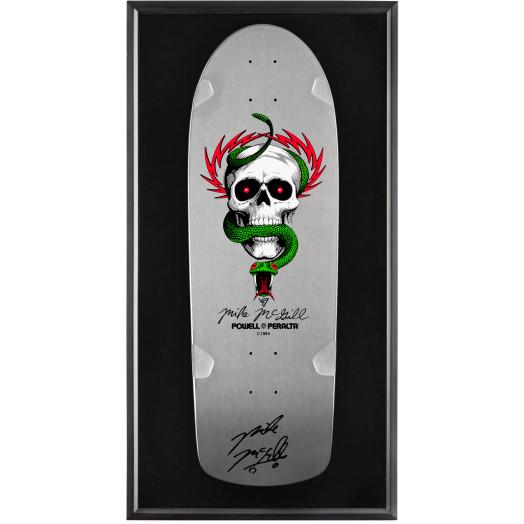 Bones Brigade® Shadowbox McGill Blem Skateboard Deck Silver - Signed by Mike