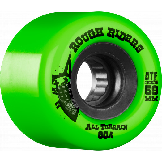 BONES WHEELS Rough Riders 59mm Green Wheel 4pk
