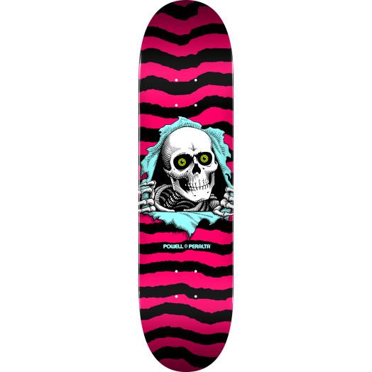 Powell Peralta Ripper Skateboard Deck Hot Pink - Shape 242 - 8 x 31.45