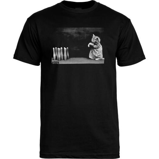 BONES WHEELS T-shirt Cat Black