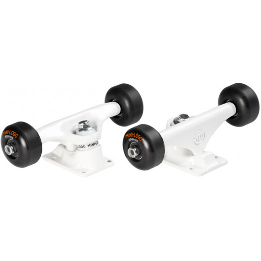 "Mini Logo Truck Assembly - 8"" White - ML Bearings 52mm 101a Black Wheels"