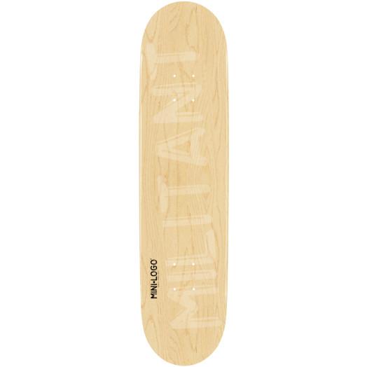 Mini Logo Militant Skateboard Deck 127 Natural - 8 x 32.125