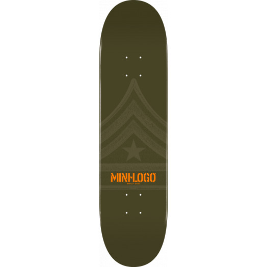 Mini Logo Quartermaster Skateboard Deck 124 Green - 7.5 x 31.375