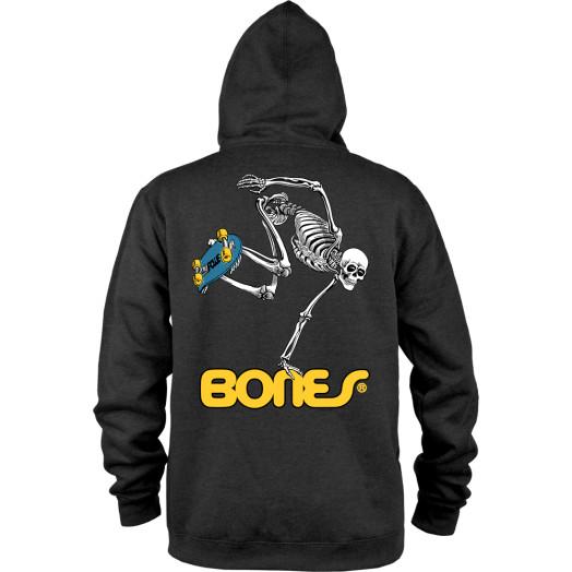Powell Peralta Hooded Zip Sweatshirt Skateboard Skeleton Black
