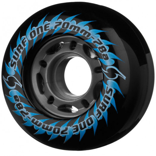 Surf One 5 Star 70mm 78a - Black (4 pack)