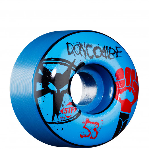 BONES WHEELS STF Pro Duncombe Fist 53mm - Blue (4 pack)