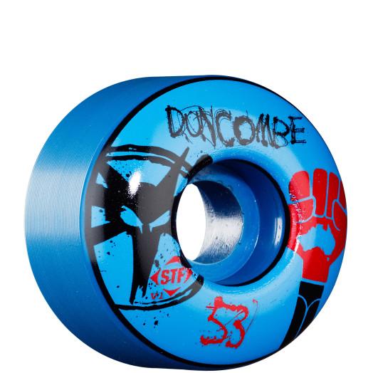 BONES WHEELS STF Pro Duncombe Fist 53mm - Blue (4 pack)