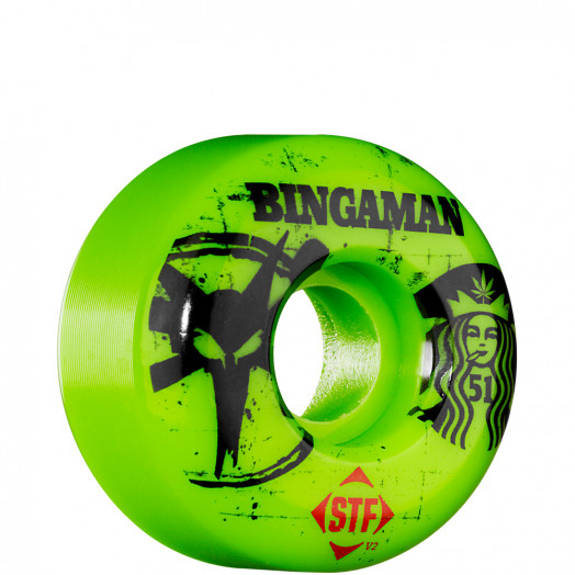 BONES WHEELS STF Pro Bingaman Tea 51mm - Green (4 pack)