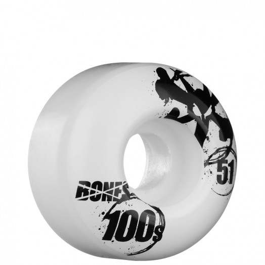 BONES WHEELS OG 100s 51mm - White (4 pack)