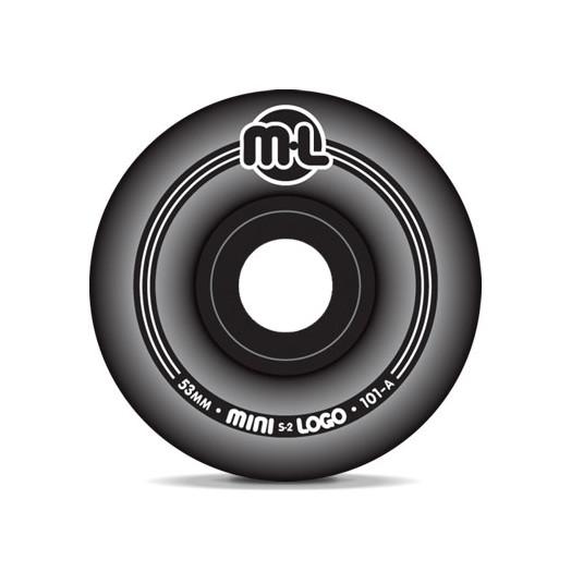 Mini Logo S-2 Black Wheels 53/101a(4pack)