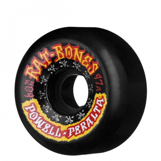 Powell Peralta Rat Bones II 60mm 97a - Black (4 pack)