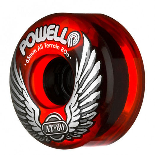Powell Classic AT-80 65/80a Clear Red Wheels(each)
