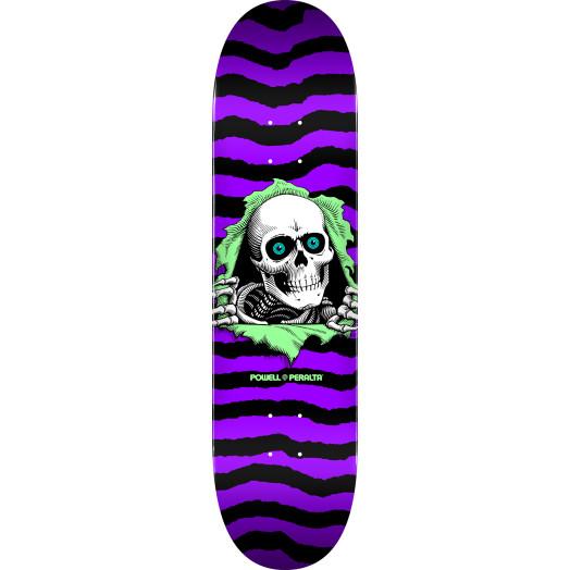 Powell Peralta Ripper Skateboard Deck Purple - Shape 244 - 8.5 x 32.08