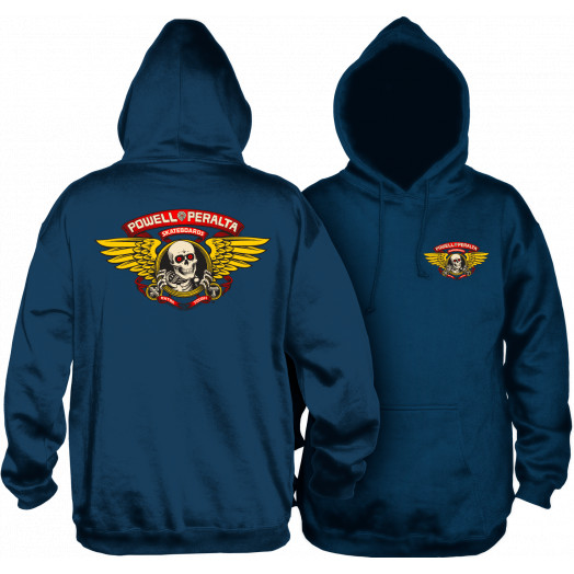 Powell Peralta Classic Winged Ripper Lightweight Hooded Sweatshirt Navy