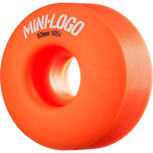 Mini Logo Wheel C-cut 53mm 101A Orange 4pk