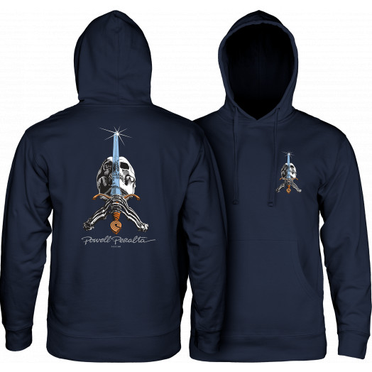 Powell Peralta Skull & Sword Hooded Sweatshirt Navy