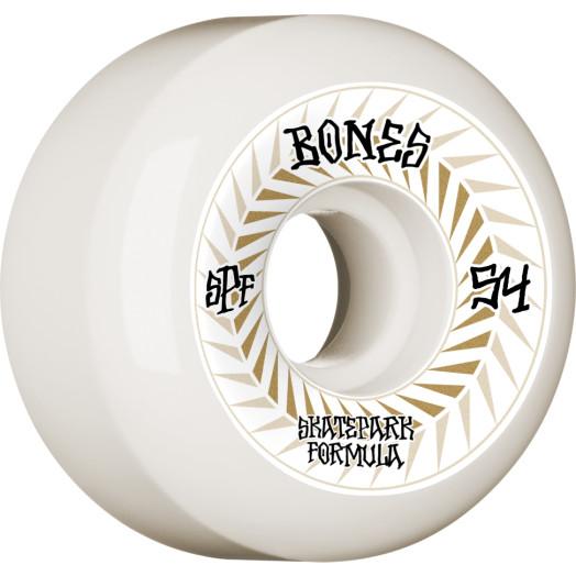 BONES WHEELS SPF Skateboard Wheels Spines 54mm P5 Sidecut 81B 4pk White