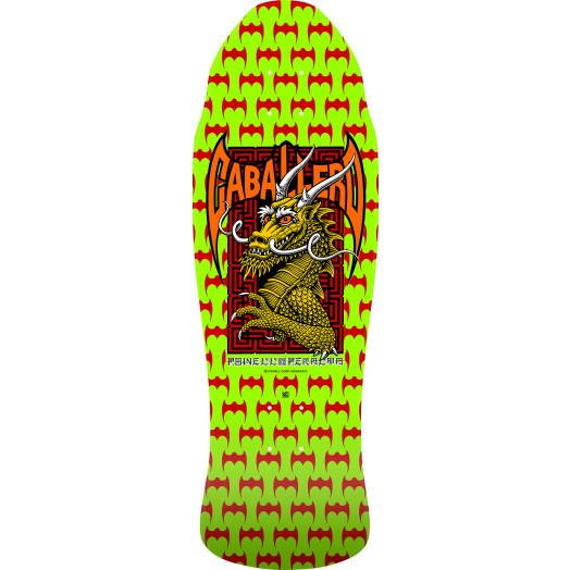 Powell Peralta Pro Steve Caballero Street Skateboard Deck Lime Green - 9.625 x 29.75