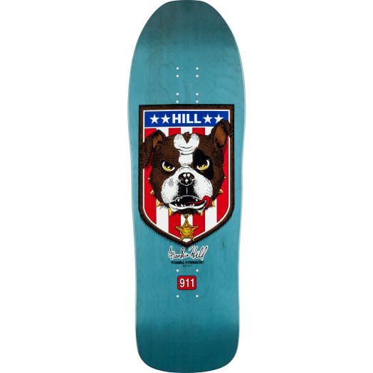 Powell Peralta Frankie Hill Bulldog Reissue Skateboard Deck Blue - 10 x 31.5
