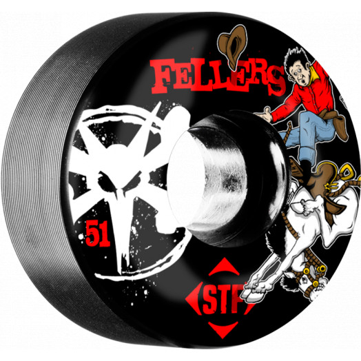 BONES WHEELS STF Pro Fellers Bronco 51mm wheels 4pk Black